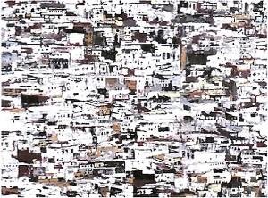 Philippe-Cognee---Medina--2009---peinture-a-la-cire-sur-t