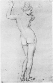 Julius-Schnorr-von-Carolsfeld-Akt-kobiecy-w-pozie-stojacej_width350