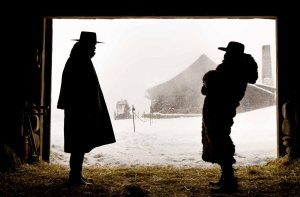 (L-R) SAMUEL L. JACKSON and DEMIAN BICHIR star in THE HATEFUL EIGHT. Photo: Andrew Cooper, SMPSP © 2015 The Weinstein Company. All Rights Reserved.