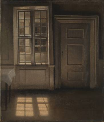 22Vilhelm Hammershoi-Interior, Sunlight on the Floor-1906