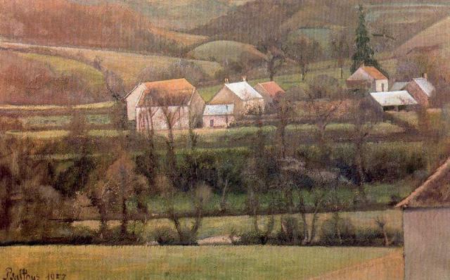 Balthus-balthasar-Klossowski-The-Yonne-Valley