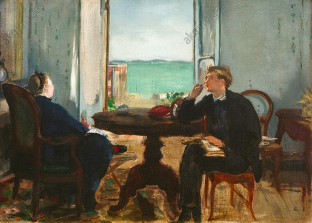 Edouard Manet, Interieur in Arcachon