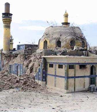 Mosquee al-askari après l'attentat