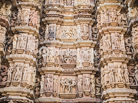Kamasutra temple in Khajuraho, India