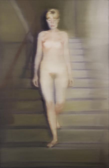 Ema (Akt auf einer Treppe) - Richter